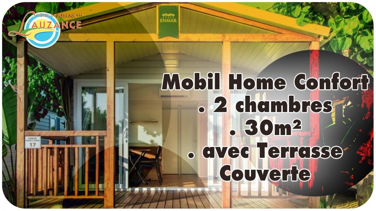 camping de l 39 auzance location mobil home confort en. Black Bedroom Furniture Sets. Home Design Ideas